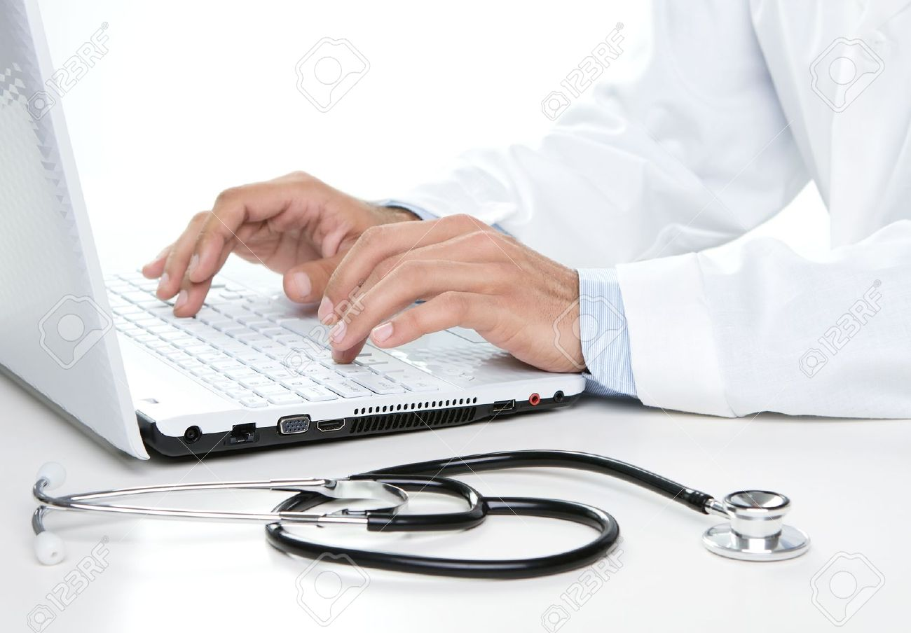 15201559-close-up-of-male-doctor-working-on-a-laptop-stock-photo-computer